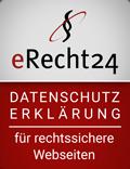 Siegel E-Recht24 für Datenschutzerklärung