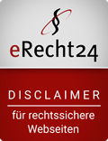 Siegel e-Recht24 Disclaimer